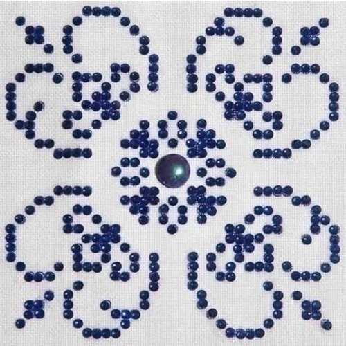 Diamond Dotz Diamond Dotz Blue on White DD1.004