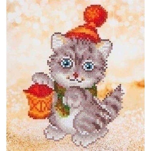 Diamond Dotz Diamond Dotz Christmas Kitten Glow DD3.013