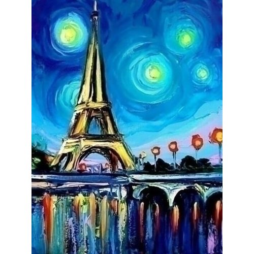 Wizardi Wizardi Diamond Painting Paris Colours WD291