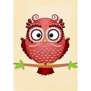 Wizardi Diamond Painting Owl Phil WD250