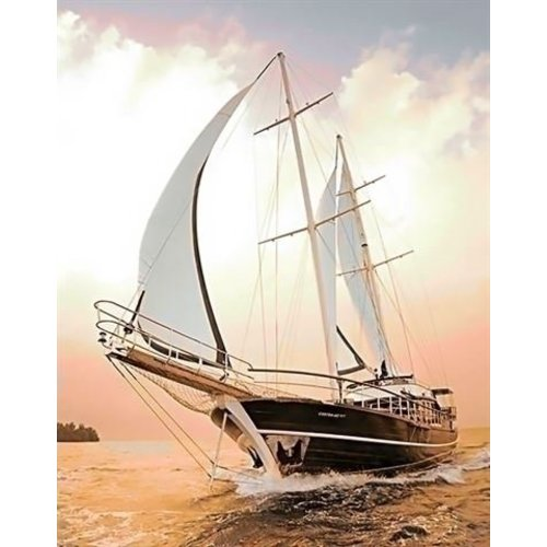 Wizardi Wizardi Diamond Painting Yacht WD227