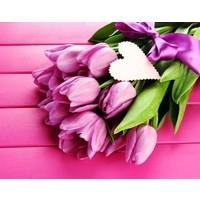 Wizardi Diamond Painting Tulips and Love WD022