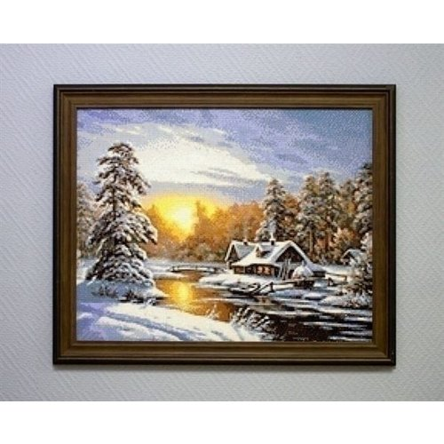 Wizardi Wizardi Diamond Painting Winter Sunrise WD105