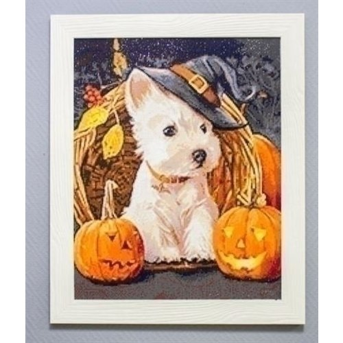 Wizardi Wizardi Diamond Painting Halloween Dog WD188