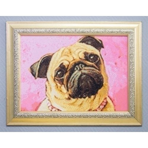Wizardi Wizardi Diamond Painting Pug WD182