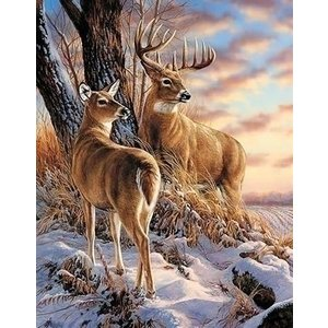 Wizardi Wizardi Diamond Painting Deer in Winter WD085