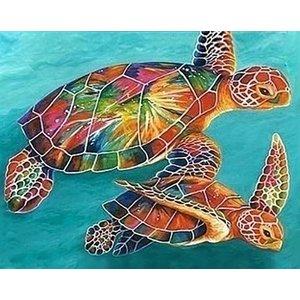 Wizardi Wizardi Diamond Painting Sea Turtles WD064