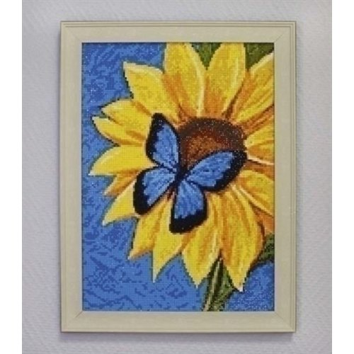Wizardi Diamond Painting Butterfly and Sunflower WD031