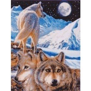 Crystal Art Crystal Art The Sentinel Wolves CAK-CH2