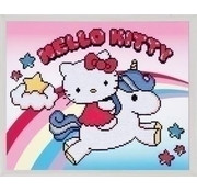 Vervaco Diamond painting Hello Kitty met eenhoorn 0173568