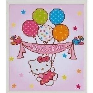 Vervaco Diamond painting Hello Kitty met ballonnen 0175278
