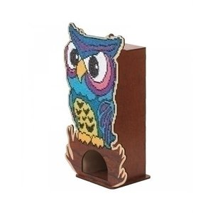 Wizardi Wizardi Diamond Painting Tea House Owl WW003