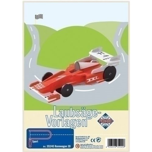Pebaro Pebaro Figuurzaag patroon Raceauto 352-4S