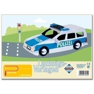 Pebaro Figuurzaag voorbeeld Politieauto