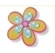 Houten bloem geverfd 3D