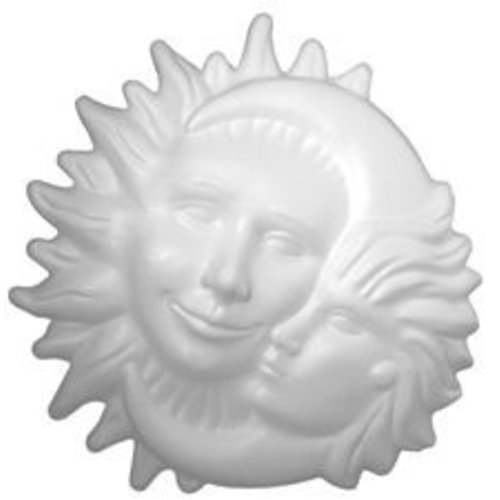 Styropor zon en maan 26 cm