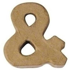 Papier mache -en- teken 4 cm