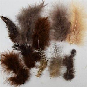 Marabou Knutselveren 5-13 cm 18 stuks Aardetinten