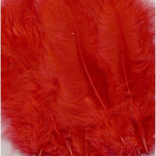 Marabou knutselveren 8,5-12,5 cm 15 stuks Rood