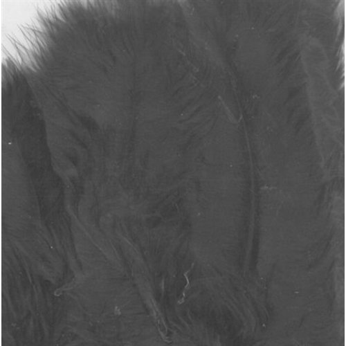 Marabou veren 8,5 - 12,5cm 15 stuks Zwart