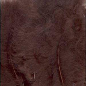 Marabou Veren 8,5 - 12,5 cm 15 stuks Bruin