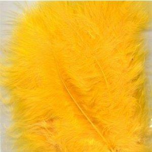 Marabou veren 8,5 - 12,5 cm 15 stuks Geel