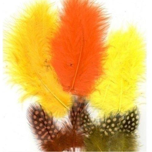Marabou Veren 5-13 cm 18 stuks Easter