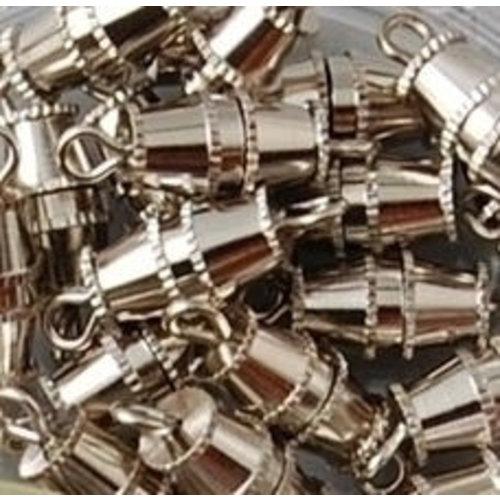 Sluiting 5 x 10 mm zilver 10 stuks