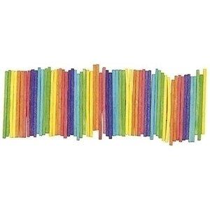 Eduplay Knutselhoutjes gekleurd 1000 stuks
