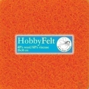 De Witte Engel Hobbyvilt 20 x 30 cm Oranje