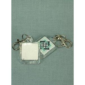 Plexiglas sleutelhanger voor borduurwerkje