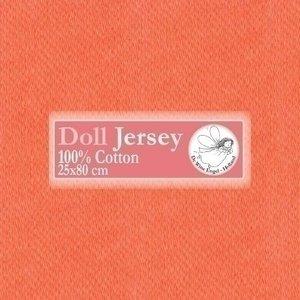 De Witte Engel Doll Jersey tricot 25 x 80 cm Oranje