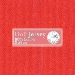 De Witte Engel Doll Jersey trico 25 x 80 cm Rood