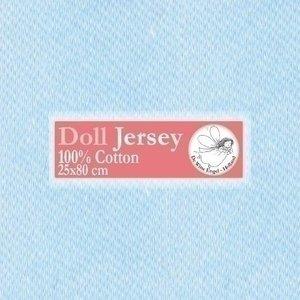 De Witte Engel Doll Jersey tricot 25 x 80 cm Lichtblauw
