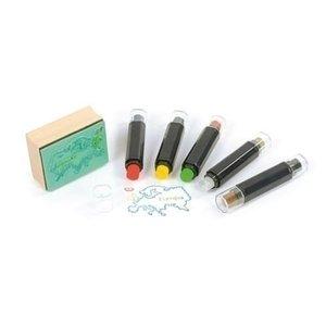 Eduplay Stempelkussen Stiften Set 5 x 2 kleuren