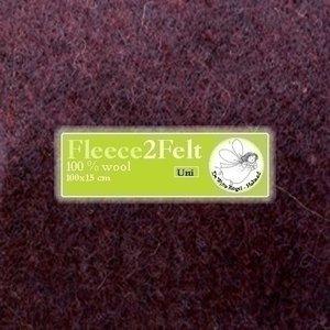 De Witte Engel Fleece2Felt 100 x 15 cm Aubergine VD0172