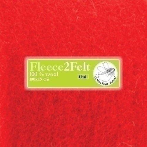 De Witte Engel Fleece2Felt 100 x 15 cm Rood VD0012