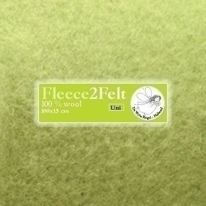 De Witte Engel Fleece2Felt 100 x 15 cm Appelgroen VD0042