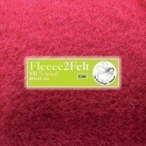 De Witte Engel Fleece2Felt 100 x 15 cm Kersenrood VD0102