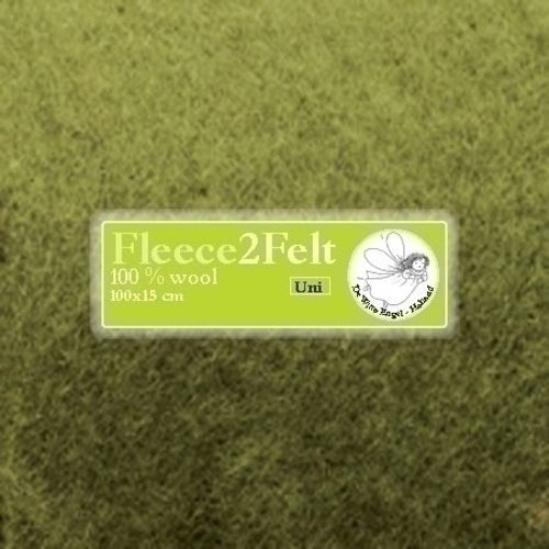 De Witte Engel Fleece2Felt 100 x 15 cm Groen VD0022
