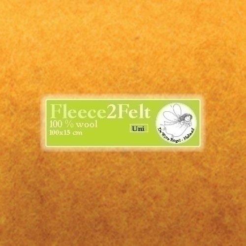 De Witte Engel Fleece2Felt 100 x 15 cm Geel VD0122