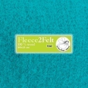 De Witte Engel Fleece2Felt 100 x 15 cm Turquoise VD0142