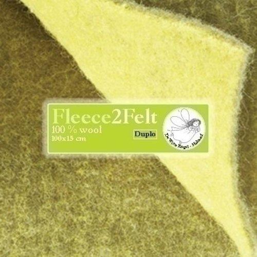 De Witte Engel Fleece2Felt 100 x 15 cm Geel/Groen VD0902