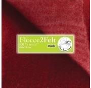 De Witte Engel Fleece2Felt 100 x 15 cm Wijnrood/Roze VD0972
