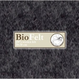 De Witte Engel BioFelt 30 x 20 cm Donkergrijs V641