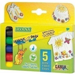 Kreul Javana textielstiften set 5 stuks 90710