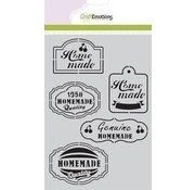CraftEmotions Mask stencil Fifties Kitchen Labels