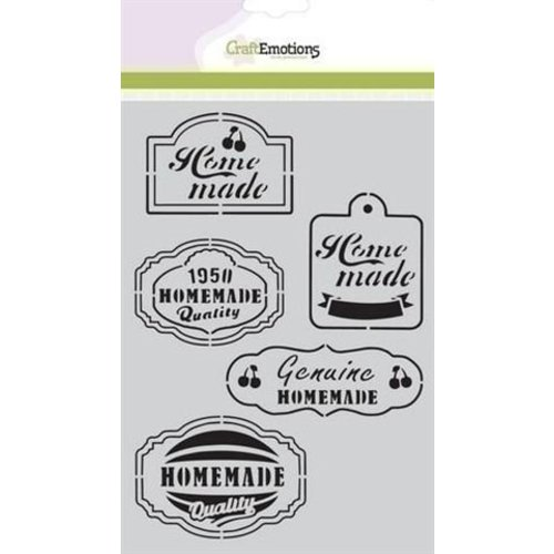 CraftEmotions CraftEmotions Mask stencil Fifties Kitchen Labels