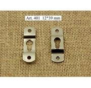 Ophanghaakje met sleutelgat 2 stuks 12 x 39 mm