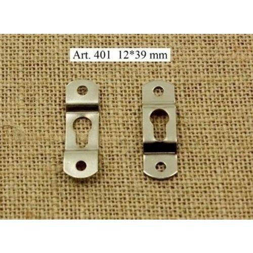 Ophanghaakje met sleutelgat 1 stuks 12 x 39 mm